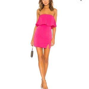Dresses & Skirts - REVOLVE Catalina Ruffle Tube Mini Dress in H Pink